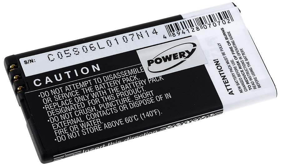Acumulator compatibil Nokia Lumia 820 / model BP-5T 1650mAh